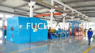 China Automated Cable Twisting Machine / Sky Blue Wire Extruder Machine supplier