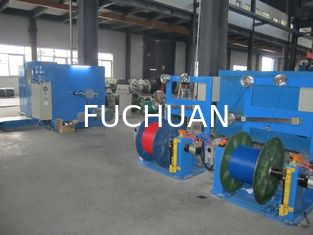 China Sky Blue Large Wire Twister Machine / High Speed Wire Extruder Machine supplier