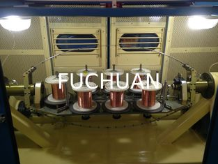 China FUCHUAN 0.64mm Copper Wire Bunching Machine With 7.5Kw Take Up Motor Power supplier