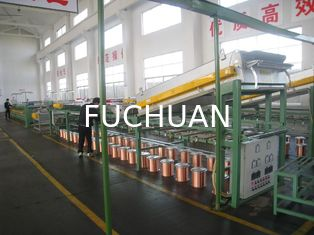 China 55Kw 40Pcs Wire Tinning Machine Inverter Control With 8 Inch Take Up Bobbin supplier