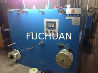 China Sky Blue Double Twist Bunching Machine Automatic Wire Rewinding Machinery supplier