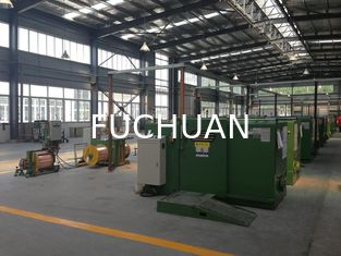 China FUCHUAN high speed apple Green Copper Wire Bunching Machine , Cable Machinery supplier