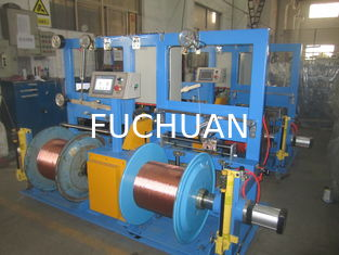 China Low Noise Copper Wire Twisting Machine , Small Floor Place Cable Extrusion Line supplier
