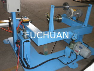 China Sky Blue Insulated Flexible Wire Extruder Machine For Optical Cable Sheathing Line supplier