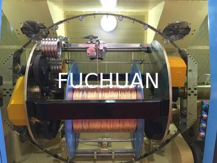 China Sky Blue Copper Wire Bunching Machine / PLC Cable Twisting Machine supplier