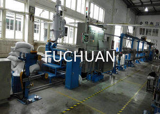 China Durable plastic extrusion equipment cable extrusion machine With 1000mm Pay Off Bobbin supplier