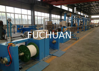 China Sky Blue Plastic Extrusion Line , electrical wire making machine 500Rpm Max Speed supplier