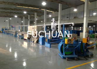 China Power wire plastic extrusion machinery With Folding W Type Cooling Channel supplier