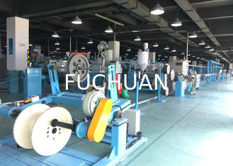 China PU Plastic Extrusion Line / electric wire making machine With Tension Pay Off supplier