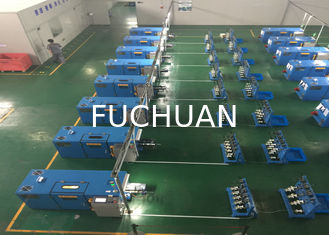 China Sky Blue Copper Wire Twisting Machine , Touch Screen Operation supplier