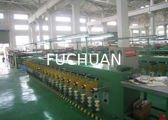 China Tube Tinned Annealed Copper Wire Tinning Machine 68Kw 300 Pay Off Bobbin supplier