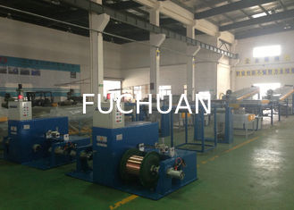 China 100M / Min Tube Wire Annealing Machine Sky Blue With Brush Pay Off Method supplier