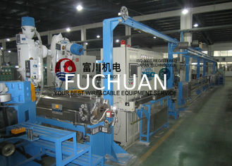 Fuchuan Low Smoking Plastic Extruder Machine With Screw Dia 70mm For Wire Dia 1.5-12mm