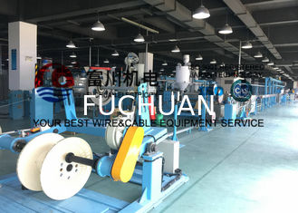 China Fuchuan Cable Wire Extrusion Machine For PVC Extruding Automatic Wire Production Line supplier
