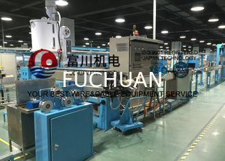 China Plastic Extrusion Line For Building Wire With Drawing Inlet Dia 2.5-3mm Out Dia 0.8-1.7mm supplier