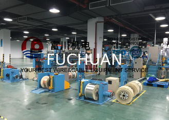 China Fuchuan LAN Cable Extrusion Machine With 65 Extruder Main Machine 35 Injection Machine supplier