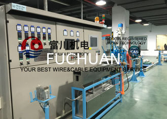 China Fuchuan Wire Extruder Machine For LAN Cable With Inlet Copper Wire 2.5-3mm Max Die No. 17 supplier