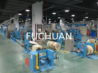 China Sky Blue Plastic Extrusion Line , electrical wire making machine Max Speed 600M/min supplier