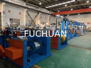 China Automobile Wire Rewinding Machine 600M / Min Motor Control Cable Extrusion Line supplier