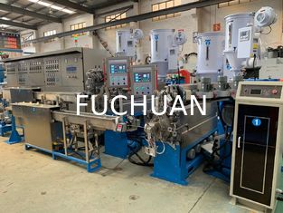 China Auto Copper Wire Extruder Machine With Double Layer Cooling Device supplier