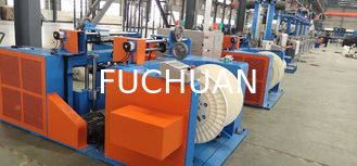 PLC Control Wire Extrusion Machine , Electric Cable Making Machine 45KW