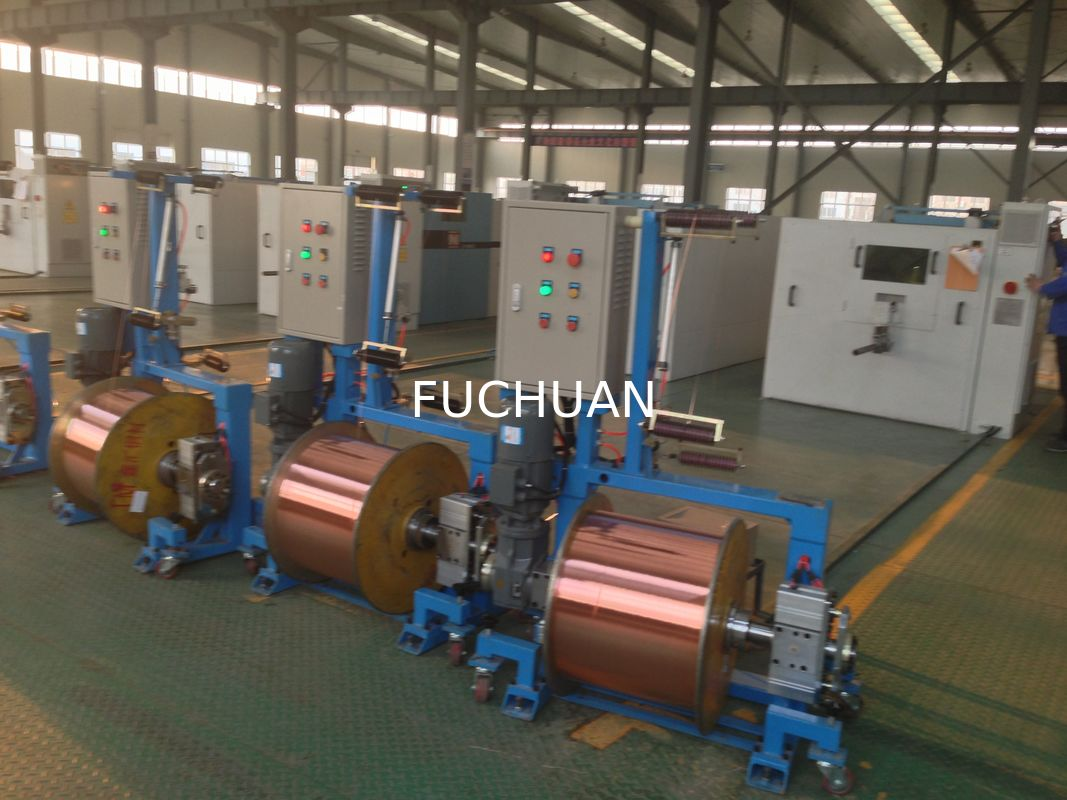 Copper Wire Shaftless Active Pay Off Machine Multiple Drawing Bobbins