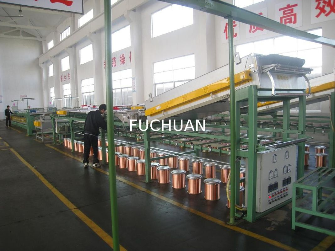 55Kw 40Pcs Wire Tinning Machine Inverter Control With 8 Inch Take Up ...