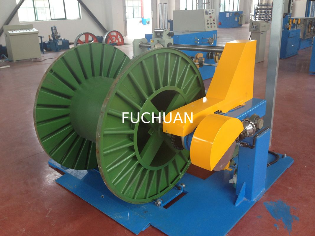 Wire Take Up PVC Extruder Machine Big Shaft Cable Sheathing Line