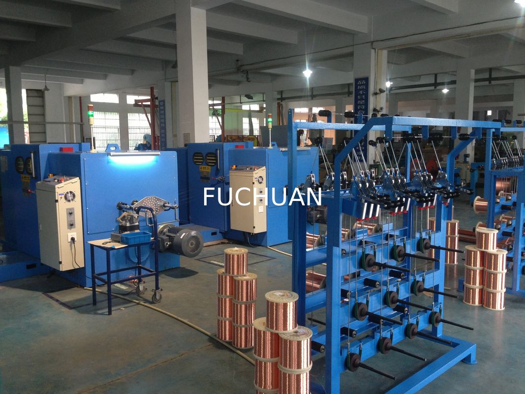Tension Control Twist Bare Copper Wire Bunching Machine Equipment China Electric Electrical Wires