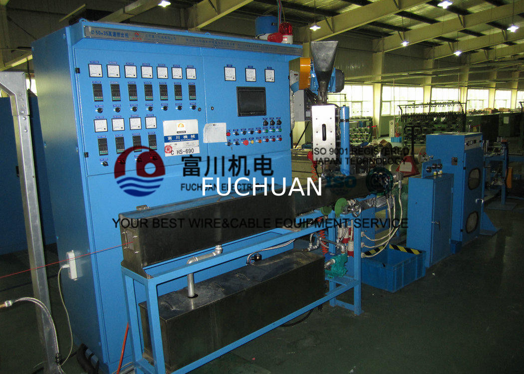 Photovoltaic 50 Cable Extrusion Machine Non - Halogen Flame ...