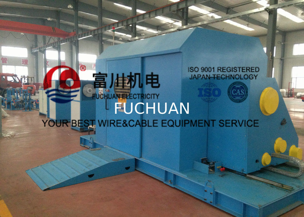 Cantilever Core Wire / Cable Twisting Machine , Sky Blue Cable ...