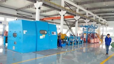 China Automated Cable Twisting Machine / Sky Blue Wire Extruder Machine factory