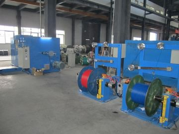 China Sky Blue Large Wire Twister Machine / High Speed Wire Extruder Machine factory