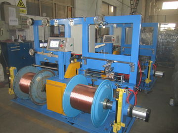 China Low Noise Copper Wire Twisting Machine , Small Floor Place Cable Extrusion Line factory