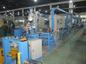 China Flexible Wire Extruder Machine , Sheathed Wire Cable Extrusion Machine factory