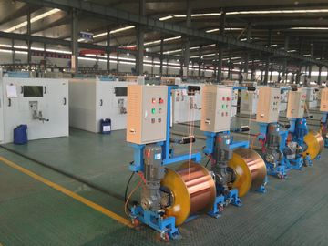 China Single Shaft Wire Twister Machine / PLC Control Plastic Extrusion Line factory