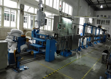 China Durable plastic extrusion equipment cable extrusion machine With 1000mm Pay Off Bobbin factory