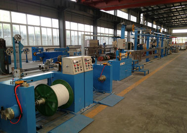 China Sky Blue Plastic Extrusion Line , electrical wire making machine 500Rpm Max Speed distributor