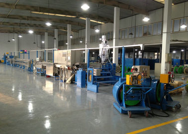 China Power wire plastic extrusion machinery With Folding W Type Cooling Channel distributor