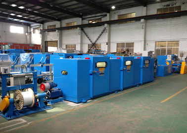 China Sky Blue wire twist machine With φ400 × φ25×276 Pay Off Bobbin factory