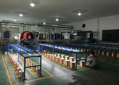 China 16 Pcs Wire Annealing Tinning Machine For Ultra Fine Round Copper Wire / Alloy Wire distributor