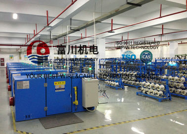 China Silver Jacketed Copper Wire Processing Equipment With Electromagnetic Brake distributor