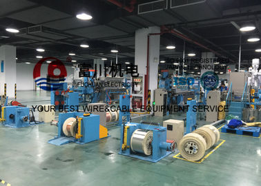 China Fuchuan LAN Cable Extrusion Machine With 65 Extruder Main Machine 35 Injection Machine distributor