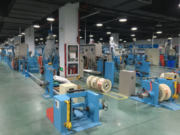 China PVC Plastic Extrusion Machinery Insulating Wire Extruder Line with Remote Monitor factory