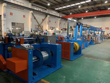 China Automobile Wire Rewinding Machine 600M / Min Motor Control Cable Extrusion Line distributor