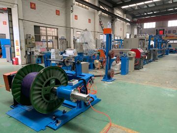 China One Shaft Wire Extruder Machine With Automatic Tension Adjusting System distributor
