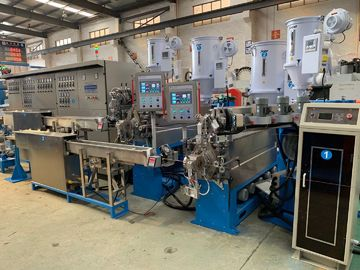 China Auto Copper Wire Extruder Machine With Double Layer Cooling Device factory