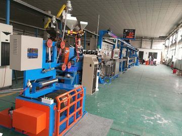 China Fast Electric Wire Making Machine / Sky Blue Cable Extrusion Machine factory