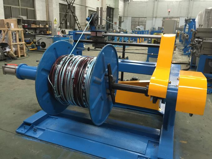 Take Up PVC Extruder Machine Big Shaft Cable Sheathing Line