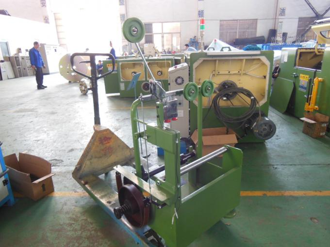 Frame Type Copper Wire Passive Pay Off Machine Apple Green With Buncher